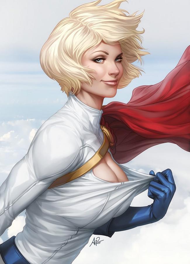 Pinturas realistas de Super Heroínas