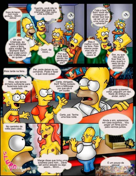 Sexo na Familia Simpsons - HQ
