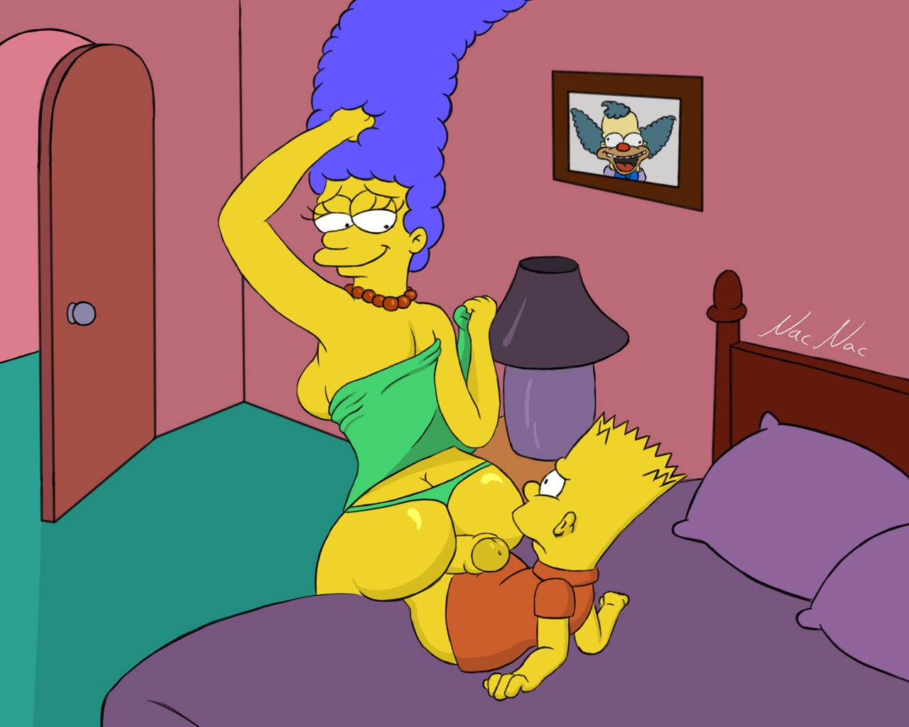 Bart and his teacher porn, simpsons hentai clip