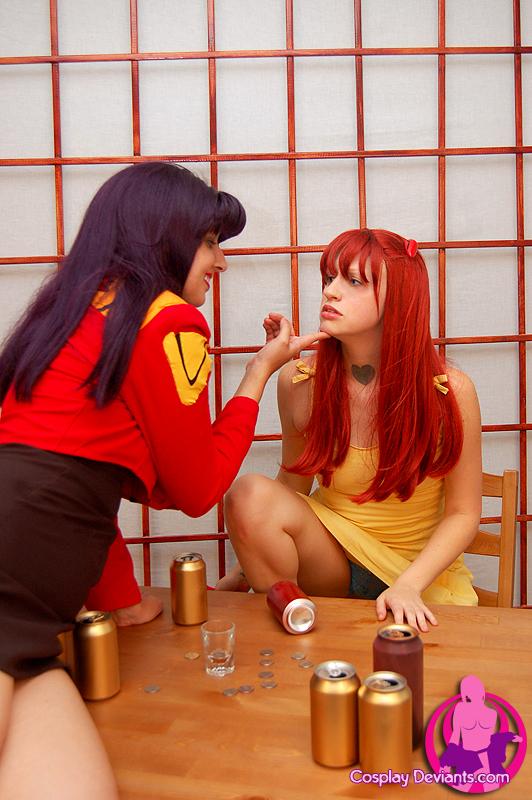Asuka Langley e Misato Katsuragi - Cosplay