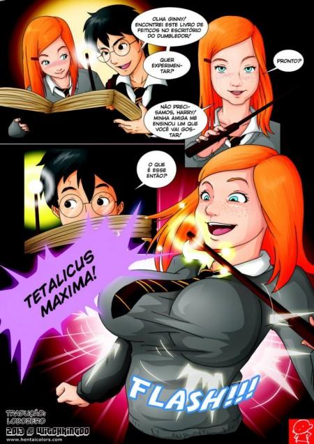 Harry Potter - Suruba com a Gina e Hermione -  HQ