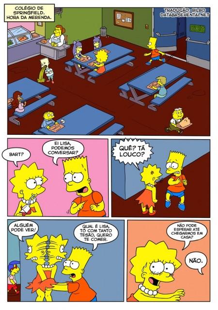 Bart e Liza - Sexo na escola - HQ