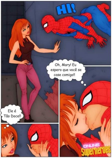 Homem Aranha fodendo a Mary Jane - HQ