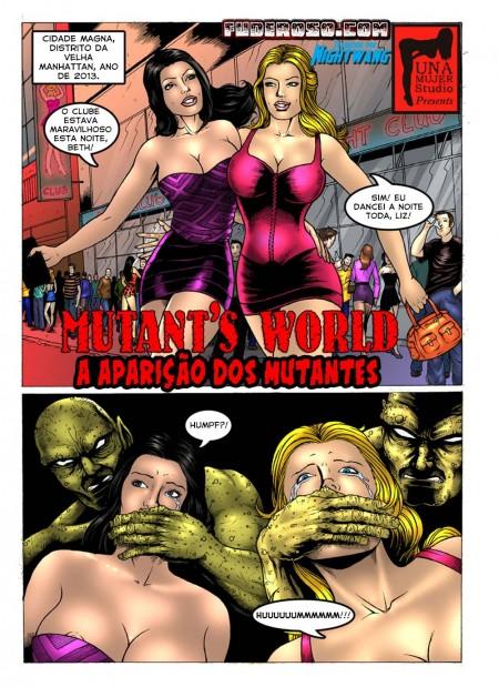 A aparição dos mutantes pirocudos - HQ
