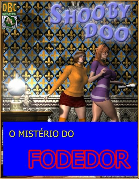 Scooby doo em O mistério do Fodedor - HQ 3D