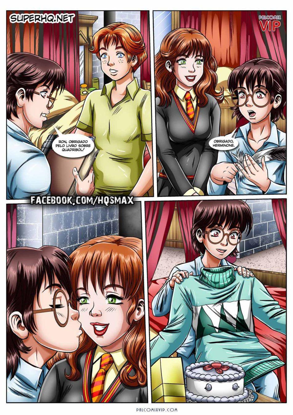 O presente da Hermione - Harry Potter Hentai